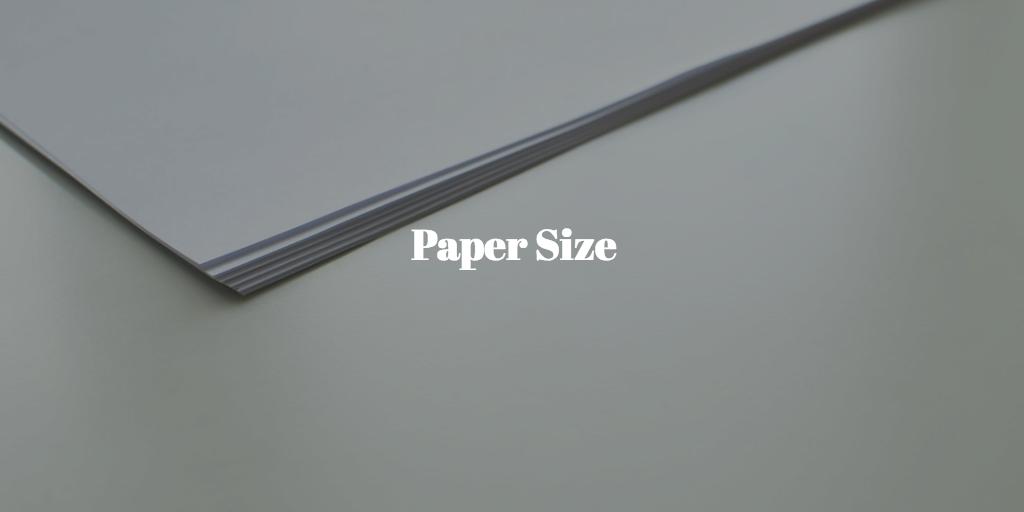 紙のサイズ